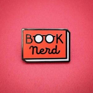 perfect gift for book lovers - Book Nerd Pin