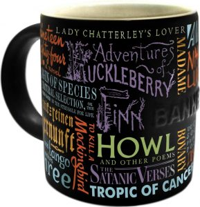 perfect gift for book lovers - banned book mug