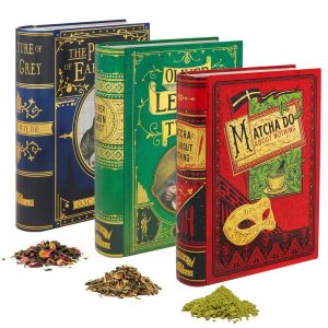 perfect gift for book lovers - book novel tea tin