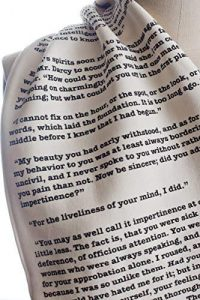 perfect gift for book lovers - book printed scarf