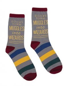 perfect gift for book lovers - book-themed socks