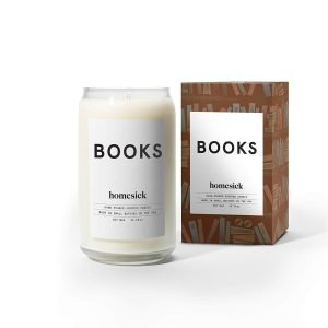 perfect gift for book lovers - library candle