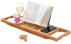perfect gift for book lovers - over-the-tub book caddy
